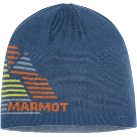 Marmot Novelty Bonnet réversible, moroccan blue